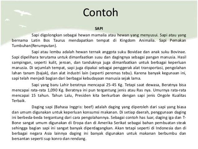 Contoh Teks Laporan Hasil Observasi Hewan Dan Strukturnya Teks Hewan Bahasa Cute766
