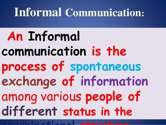 Presentation On Formal Vs Informal Communication