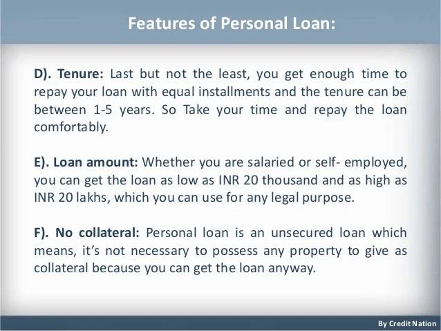 Getting Personal Bank Loan