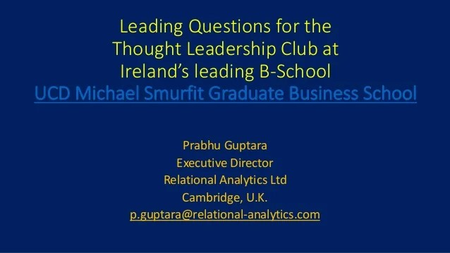 Leading Questions For The Vthought Leadership Club At