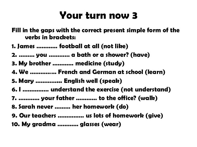English Exercises Verb To Be Present Simple  English Is Funtastic Present Simple Affirmative