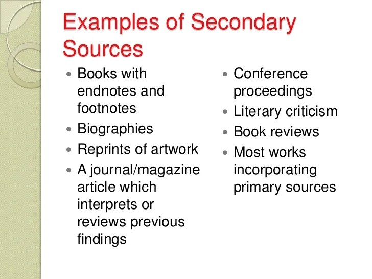 Secondary Source Analysis Essay Research Paper Writing Service