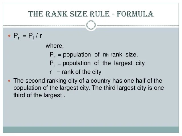 rank size rule