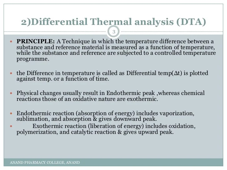 Principle and application of dsc,dta,ftir and x ray diffraction