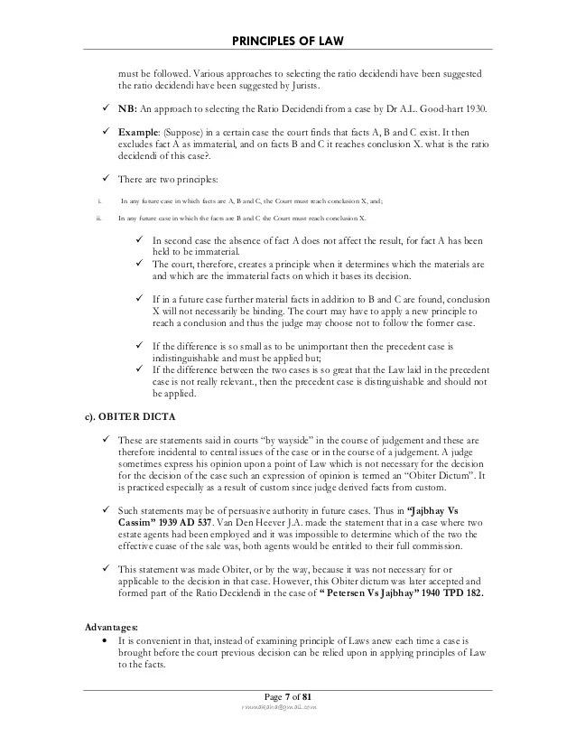 PRINCIPLES OF LAW : LAW OF CONTRACT