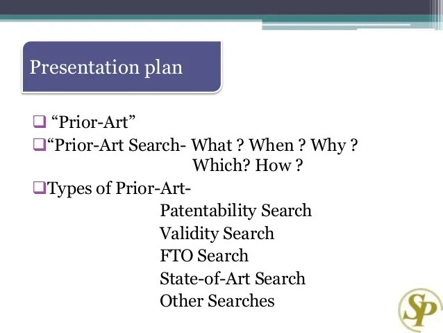 Prior art search