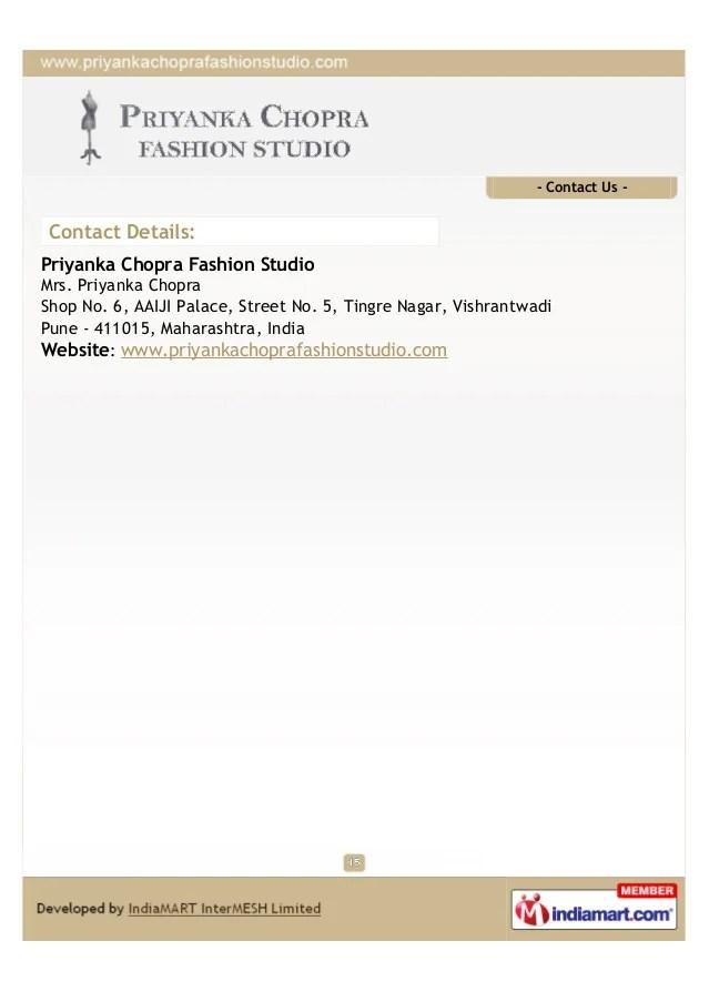 Priyanka Chopra Fashion Studio. Pune. designer lehengas