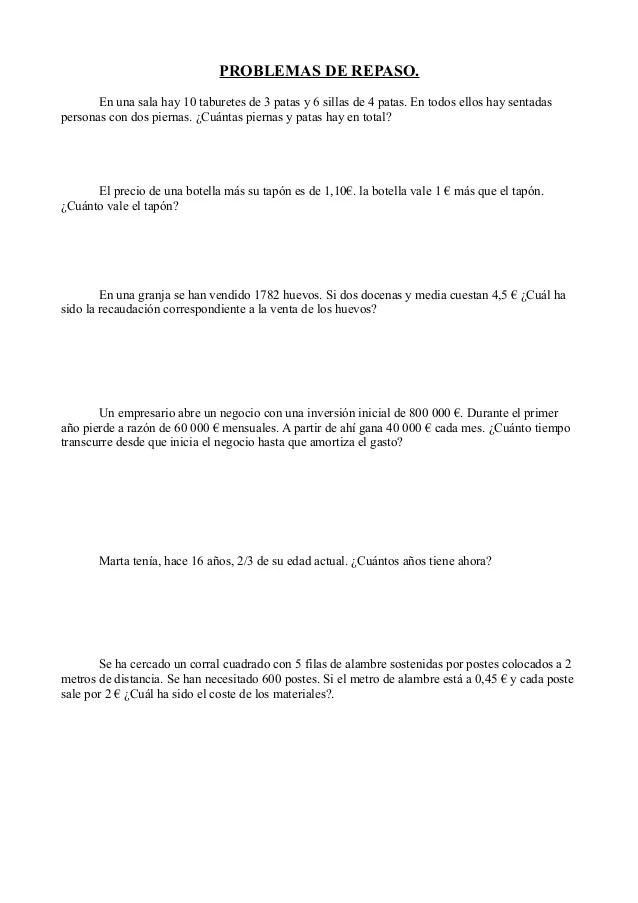 Problemas matematicas 1