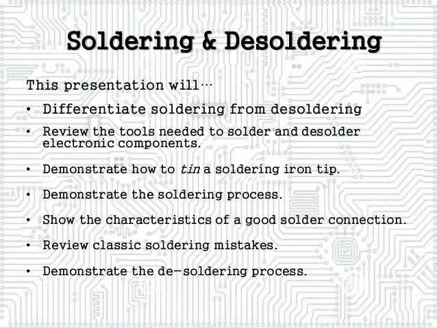 how to desolder electronic connections