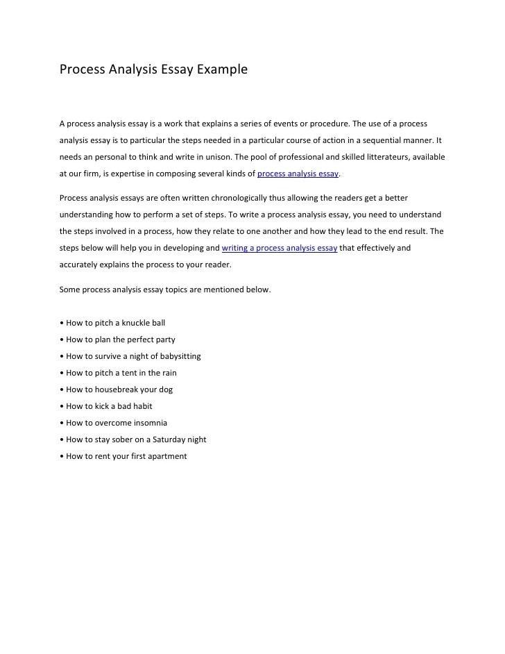 Topics For Process Essays  Underfontanacountryinncom Good Topics For A Process Essay Ideal Vistalist Co
