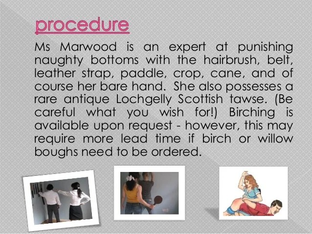 Professional disciplinarian and spanking