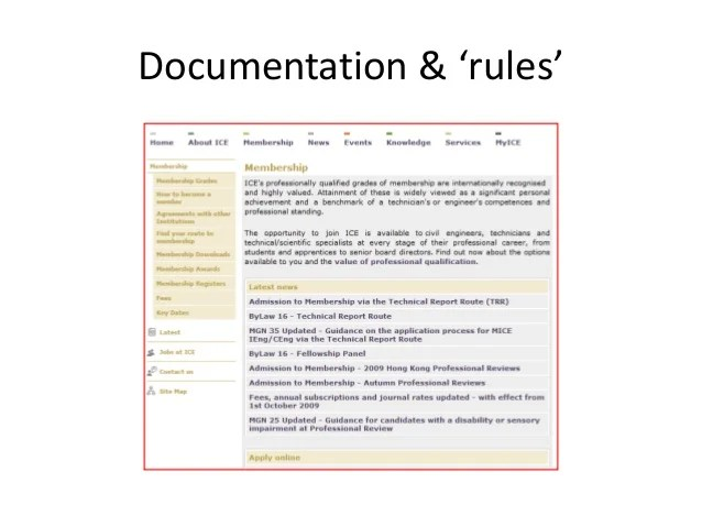 Documentation  rules also ice professional review rh slideshare