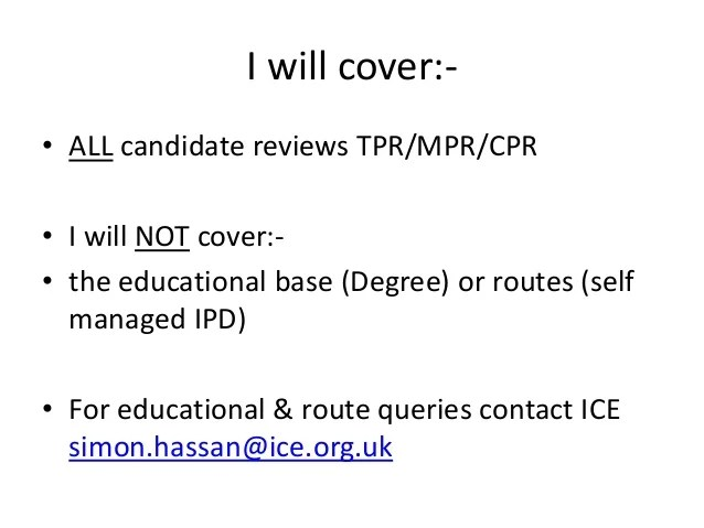 Tips for your professional review eur ing ian jenkinson bsc mba fice fimeche mcmi also ice rh slideshare