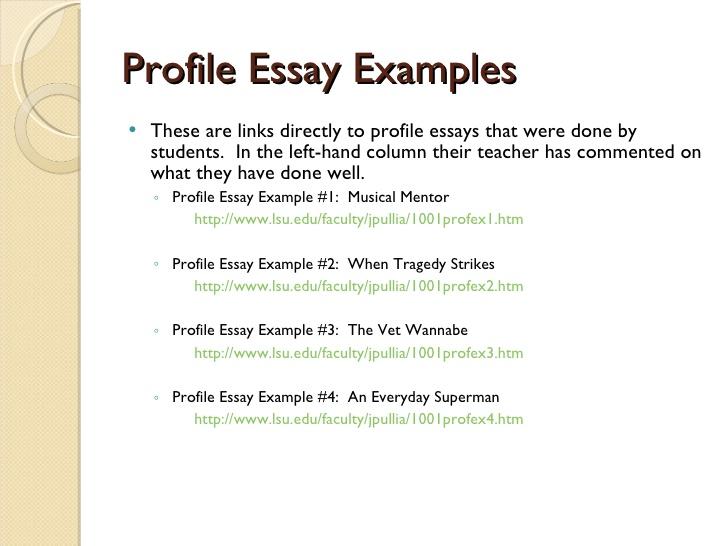 profile essay examples co profile essay examples