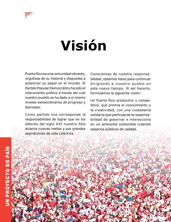 4 Visión Puerto Rico es una comunidad vibrante, Co...
