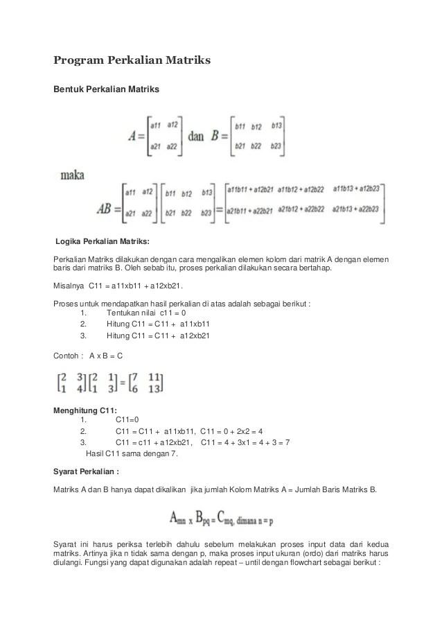Program Perkalian Matriks C++ : program, perkalian, matriks, Program, Flowchart, Perkalian, Matriks