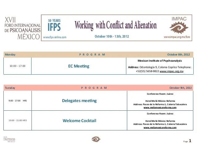 Program xvii iternational forum ifps