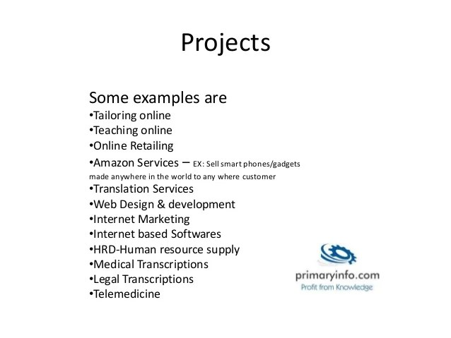 export project ideas