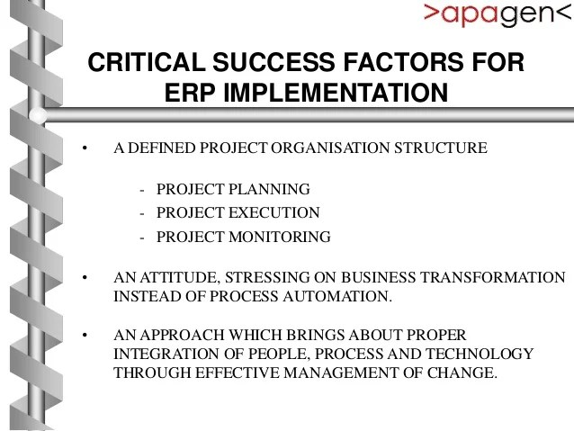 Project organisation structure and erp implementation methodology apagen solutions pvt ltd by gaurav kumar also method rh slideshare