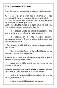 Pronoun Antecedent Agreement Worksheet With Answers ...