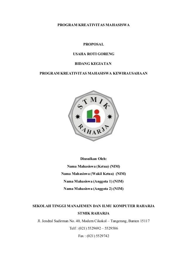 Contoh Proposal Kewirausahaan Mahasiswa : contoh, proposal, kewirausahaan, mahasiswa, Proposal, Kewiurausahaan-makanan
