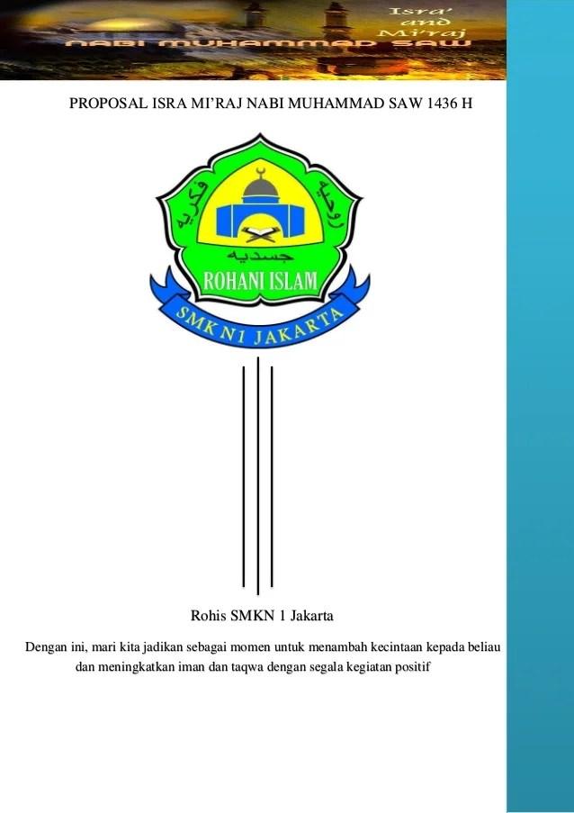 (Doc) Proposal Kegiatan Isra' Mi'Raj Nabi Muhammad Saw