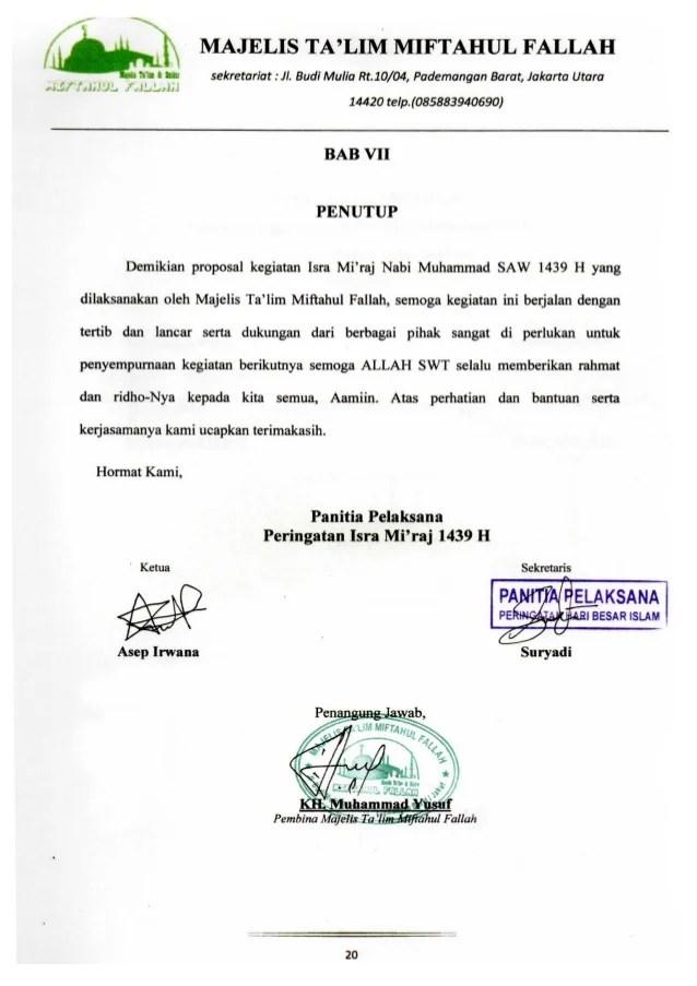 Proposal Isra Miraj : proposal, miraj, Proposal, Sponsor, Mi'raj, Muhammad