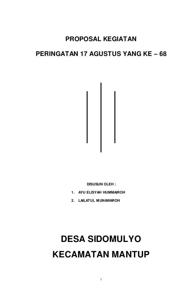 Download Contoh Proposal 17 Agustus HUT RI... - Operator Sekolah