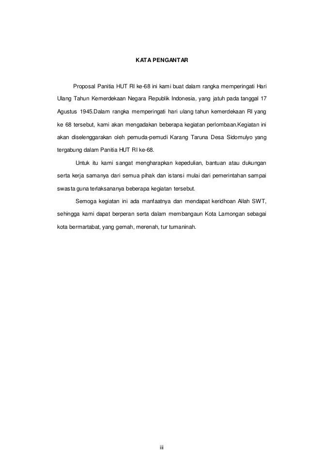 5 Contoh Proposal 17 Agustus (Tema Kegiatan, Jenis