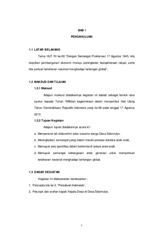 Contoh Penutup Proposal Kegiatan 17 Agustus : contoh, penutup, proposal, kegiatan, agustus, Proposal, Kegiatan, Agustus
