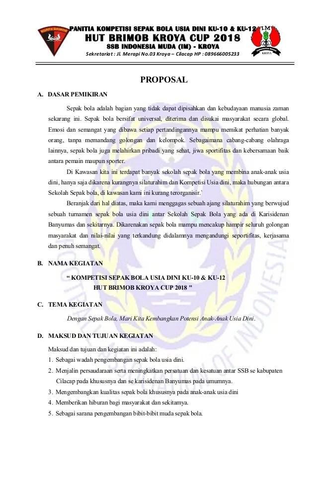 Contoh Proposal Sepak Bola : contoh, proposal, sepak, PROPOSAL, SEPAK, KU-10