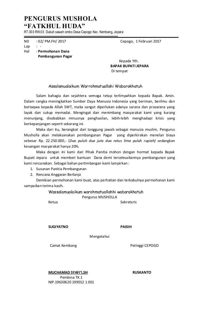 Proposal Renovasi Mushola : proposal, renovasi, mushola, Proposal, Pagar, Mushola, Fatkhul