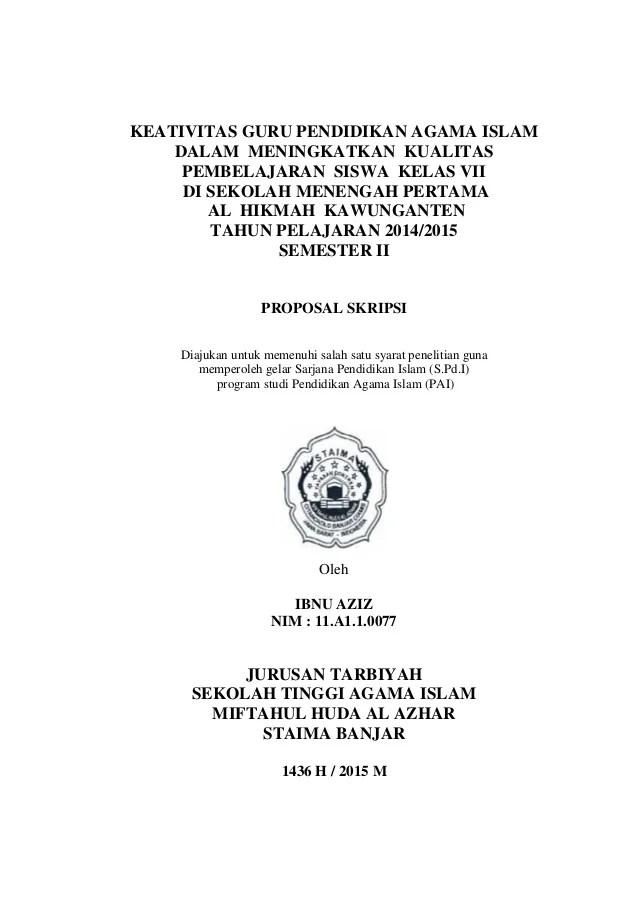 Contoh Proposal Penelitian Kualitatif Pendidikan : contoh, proposal, penelitian, kualitatif, pendidikan, Contoh, Proposal, Skripsii
