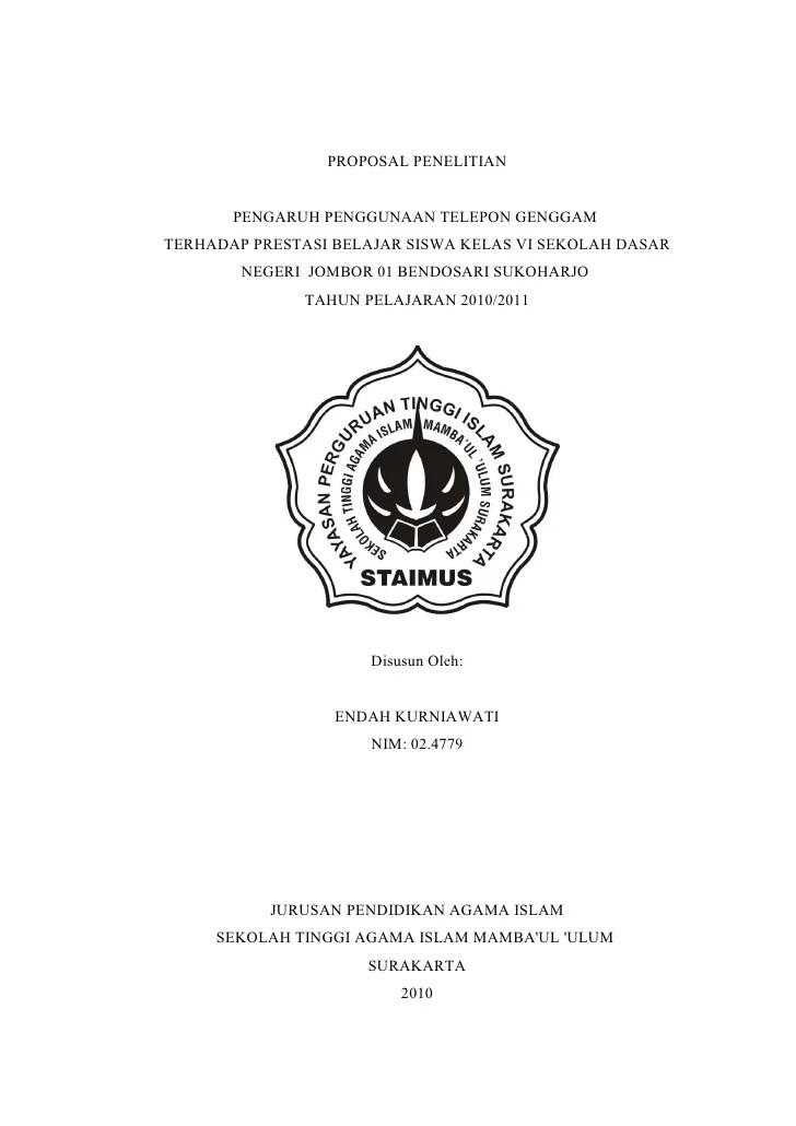 Contoh Judul Proposal Penelitian Kualitatif Pendidikan Agama Islam Curatoh Cute766