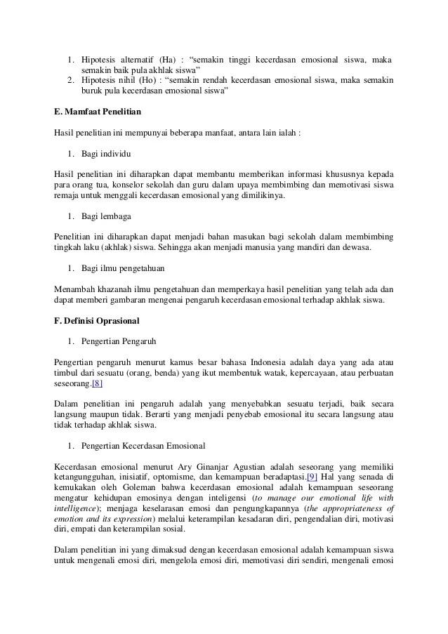 Contoh Hipotesis Penelitian Kualitatif Jawat Koso Cute766