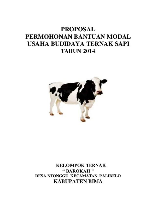 Contoh Proposal Ternak Sapi : contoh, proposal, ternak, Proposal, Permohonan, Bantuan_modal_usaha