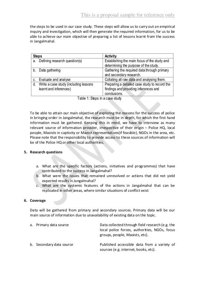 essay sewards proposal