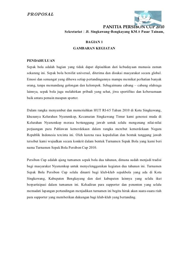 Proposal Tournamen Sepak Bola Sangia Cup Iv