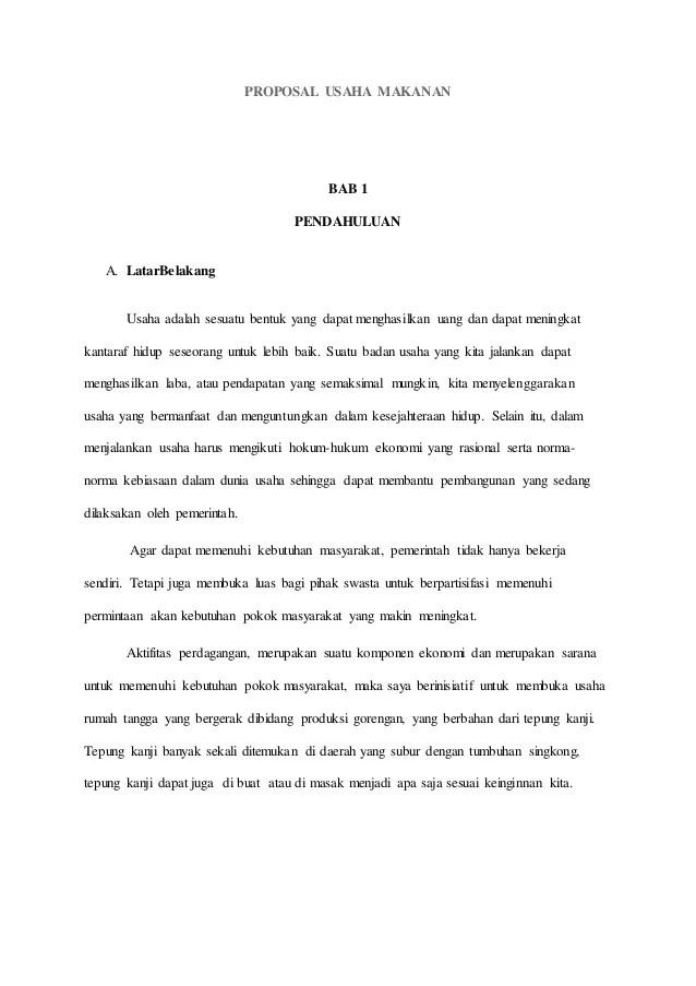 Proposal Usaha Makanan Cute766