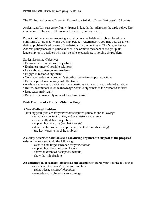 Proposing A Solution Essay #4