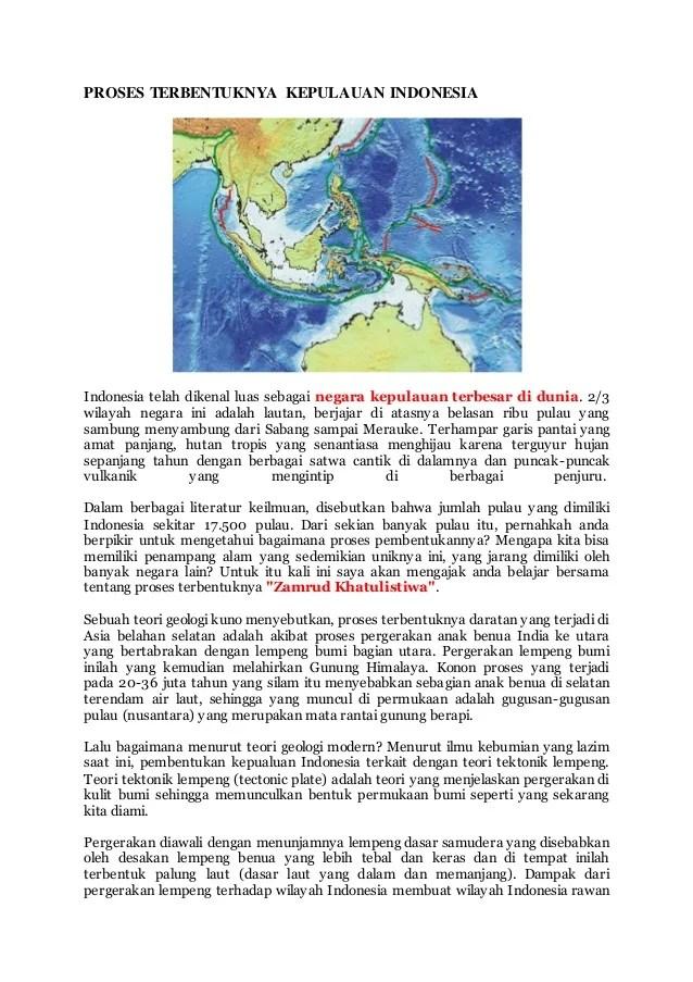 Lempeng Apa Saja Yang Melalui Negara Kita : lempeng, melalui, negara, Proses, Terbentuknya, Kepulauan, Indonesia