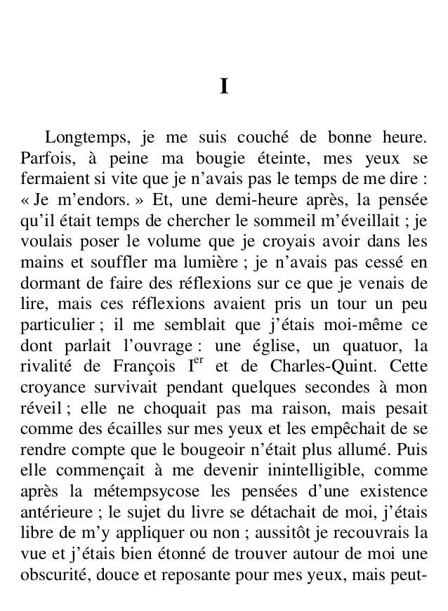 Longtemps Je Me Suis Levé De Bonne Heure : longtemps, levé, bonne, heure, Proust, 01-090624123556-phpapp01