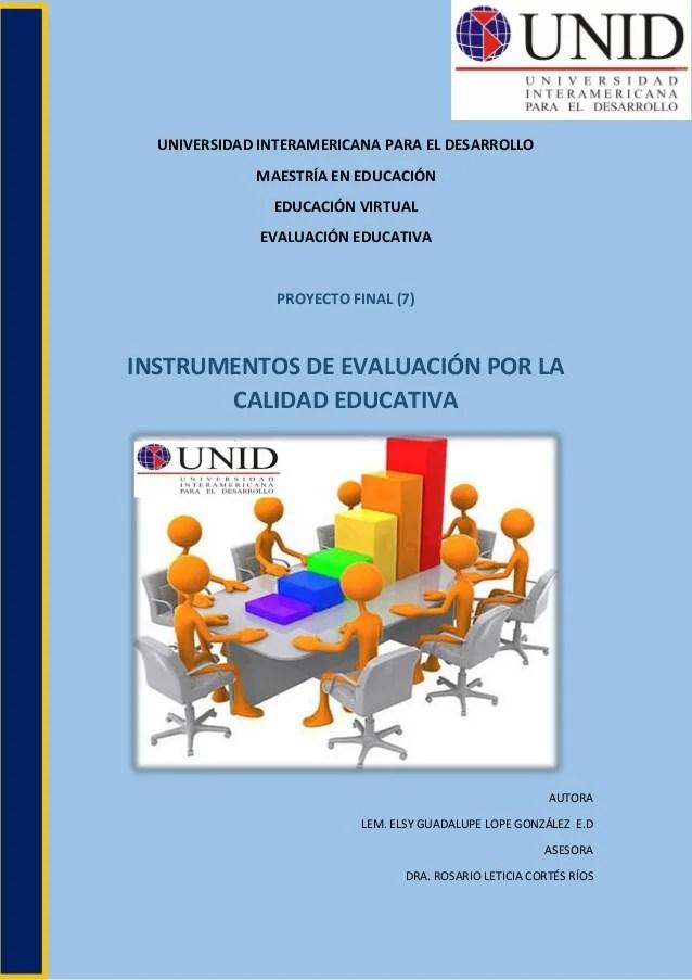 Proyecto Final 7 Evaluacion Educativa