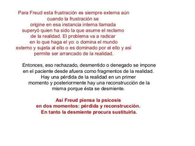 Psicoanálisis Y Delirio 5 Freud Neurosis Y Psicosis