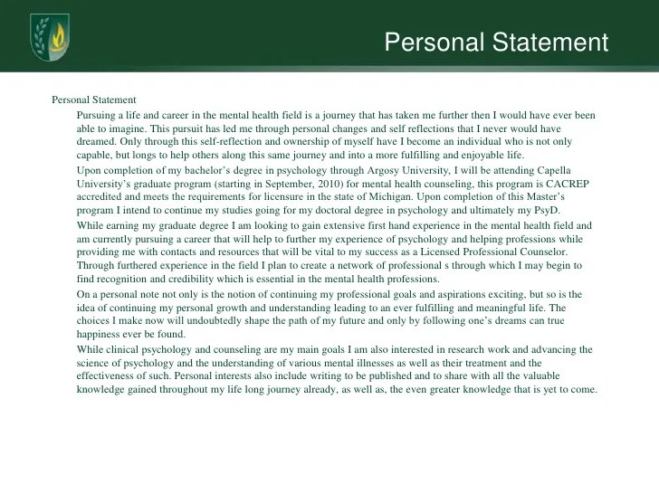 Clinical psychology personal statement help