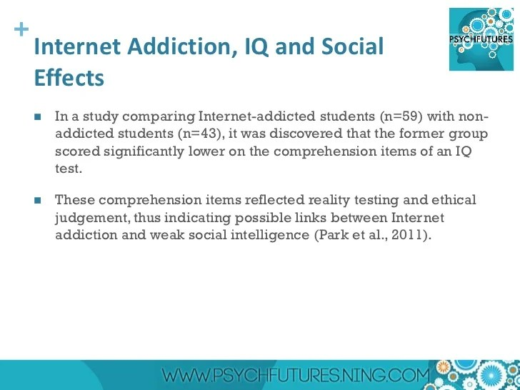 Causes and Effects of Internet Addiction - Research Proposal Example