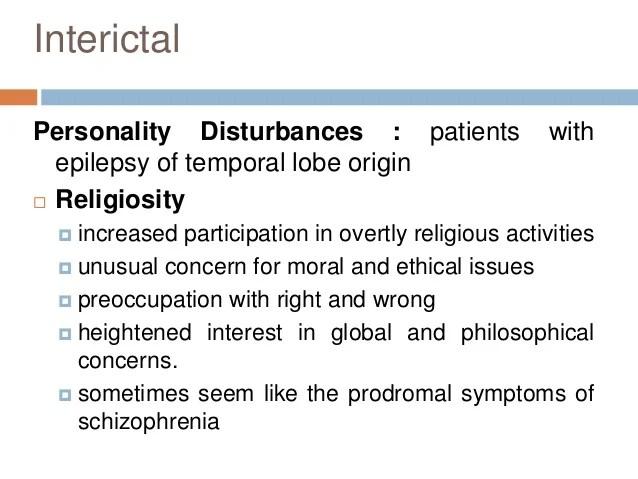 Psychiatric manifestations of Epilepsy