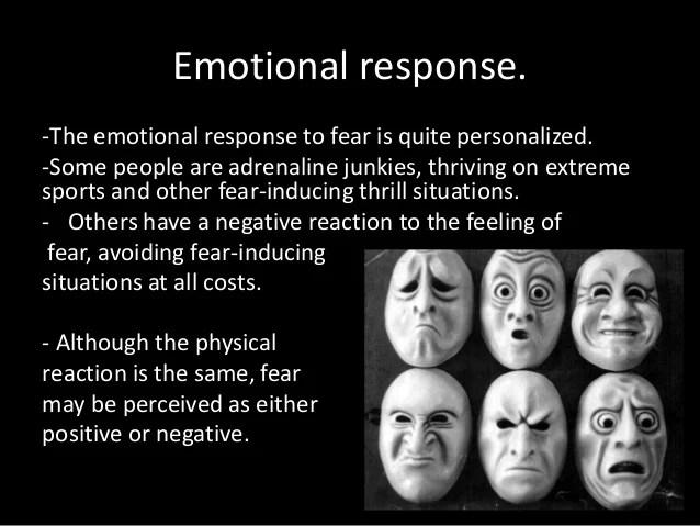 Psychology of fear.