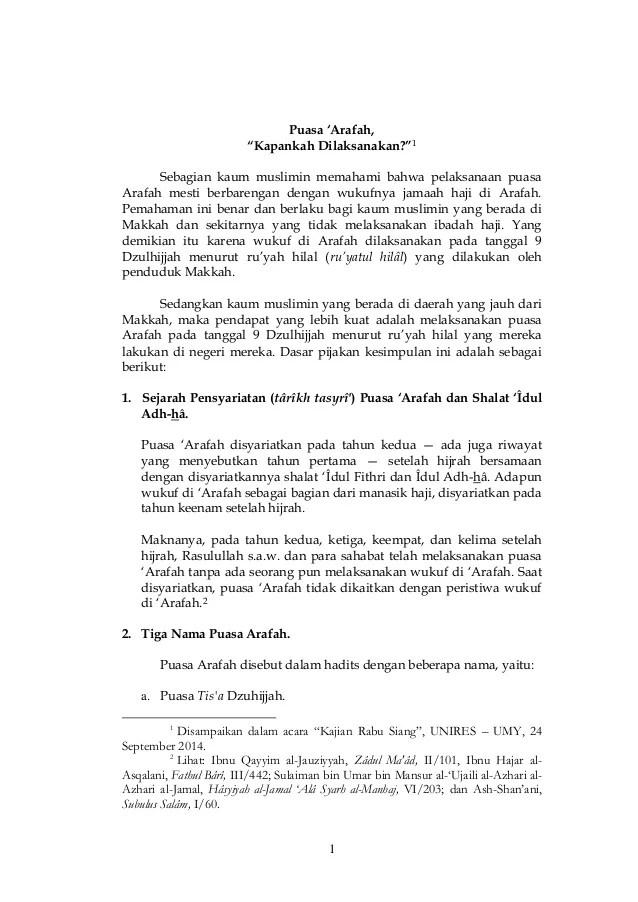 Wukuf Dilaksanakan Pada Tanggal : wukuf, dilaksanakan, tanggal, Puasa, 'arafah,, Kapan, Dilaksanakan