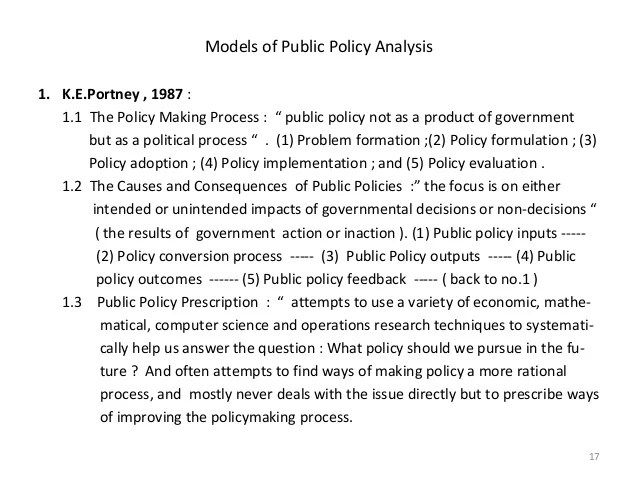 Public policy-analysis